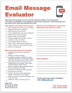 Email evaluator